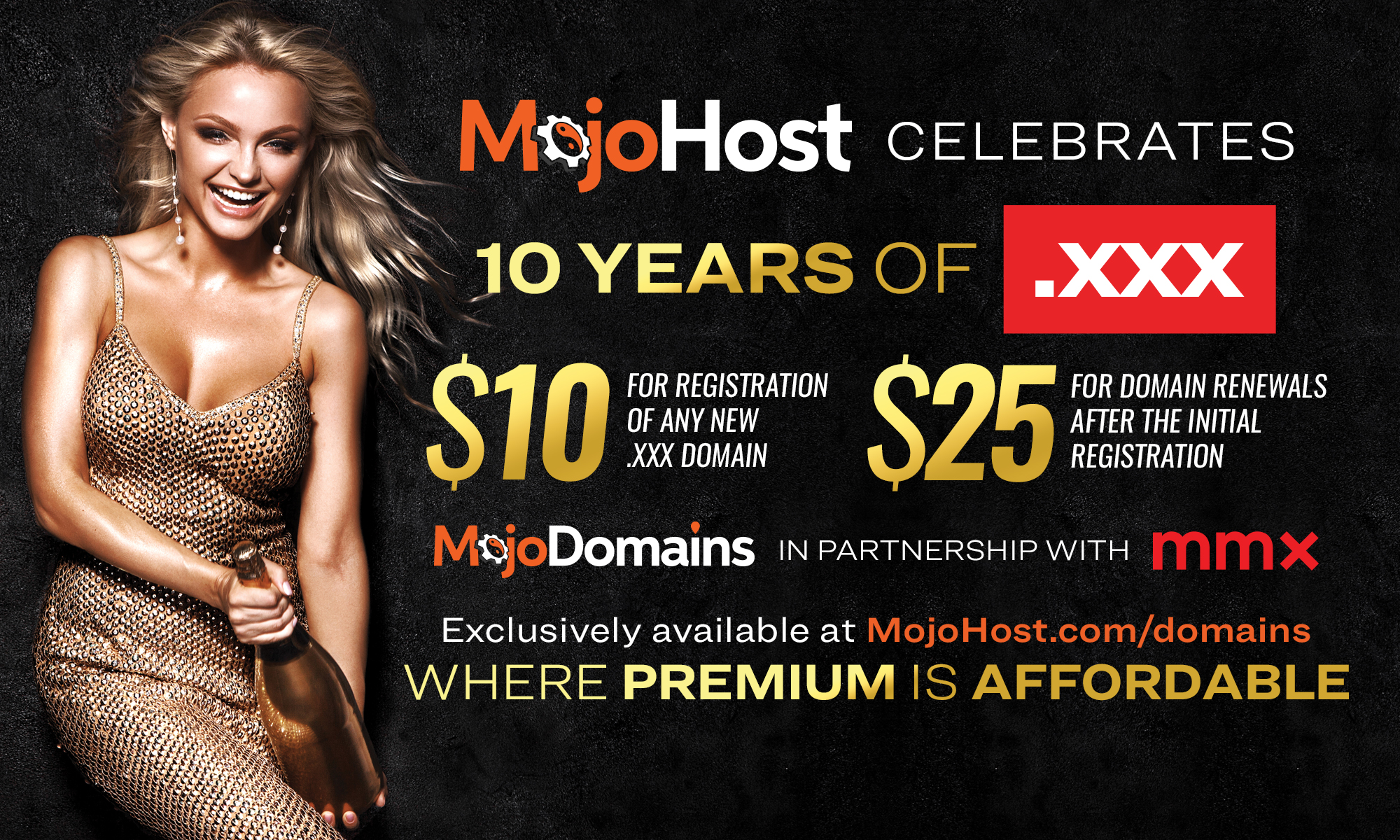 Anniversary Limited Time Offer .xxx TLD At $10